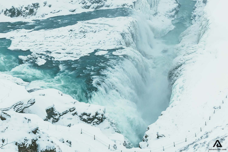 Gullfoss Waterfall in Southwest Iceland